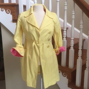 Yellow Lily Pulitzer Trench style Jacket  Sz 0